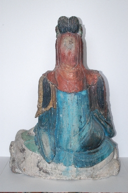 CHINESE-ART GUANYING MING dynasty wood 81cm. foto 5