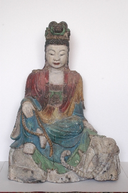 CHINESE-ART GUANYING MING dynasty wood  81cm. INQUIRE ONLY
