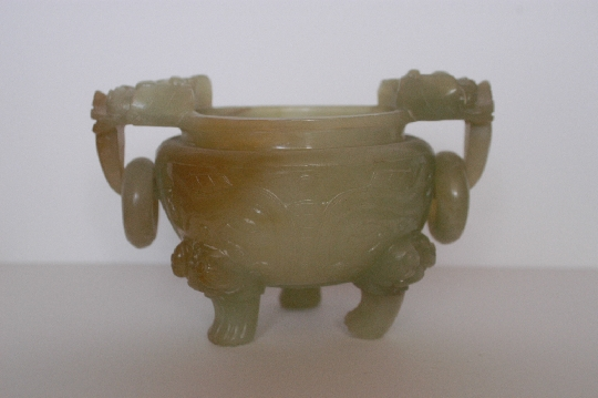 CHINESE-ART JADE CORO and COVER restored 19th 24 cm. foto 3