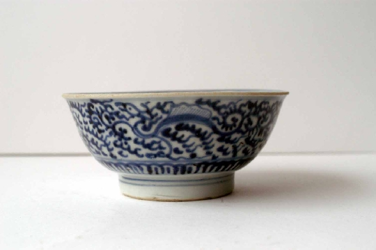 CHINESE BLUE and WHITE porcelain bowls 12.2 cm diam foto 2