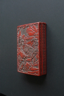 CHINESE RED lacquer box MING period 4.4*13*19 cm. foto 4