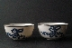 CHINESE BLUE and WHITE porcelain pair bowls 19th Century 10.7 cm diam silber foto 3